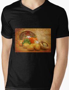 Cascading Vegetables Mens V-Neck T-Shirt
