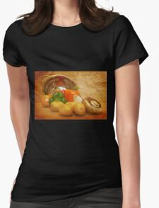Cascading Vegetables Womens Fitted T-Shirt