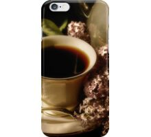 Coffee and Lilacs in the Morning iPhone Case/Skin