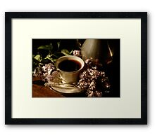 Coffee and Lilacs in the Morning Framed Print