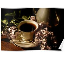 Coffee and Lilacs in the Morning Poster