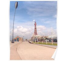 Blackpool Tower and Oar Poster