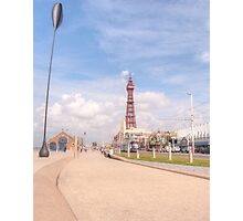 Blackpool Tower and Oar Photographic Print