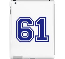 Number 61 iPad Case/Skin