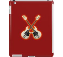 Double White  bass guitar iPad Case/Skin