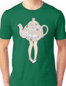 Teapot Girl - purple Unisex T-Shirt
