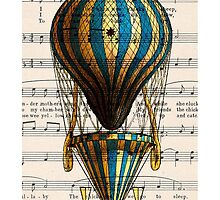 Balloon Vintage Music Notes by CantikaCase