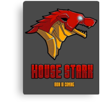 Game of Thrones / The Avengers - House Stark (Funny Iron Man Crossing) Canvas Print