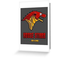 Game of Thrones / The Avengers - House Stark (Funny Iron Man Crossing) Greeting Card