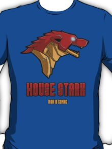 Game of Thrones / The Avengers - House Stark (Funny Iron Man Crossing) T-Shirt