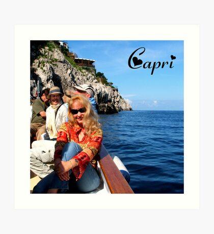 Me in Capri Art Print