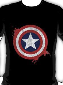 Captain America Shield - Vintage T-Shirt