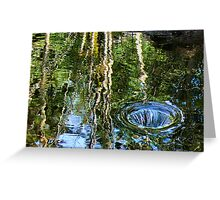 overflow reflective Greeting Card