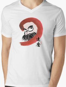 達磨 Daruma Mens V-Neck T-Shirt
