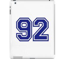 Number 92 iPad Case/Skin