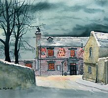 The Ship Inn at Sewerby in Wintertime by Glenn  Marshall