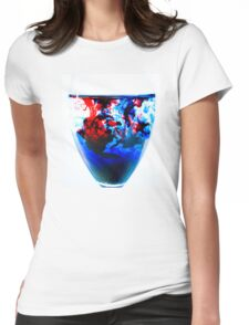Loops and Swirls Womens Fitted T-Shirt