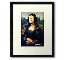 Hillary Mona Lisa Framed Print