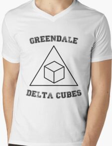 Greendale Delta Cubes Mens V-Neck T-Shirt