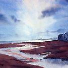 Evening Light over Bridlington Bay by Glenn  Marshall
