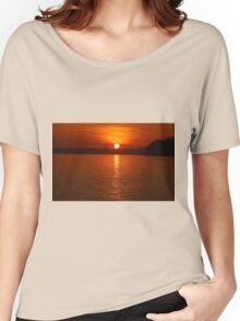 Ruby Sunset Coastal View Women's Relaxed Fit T-Shirt