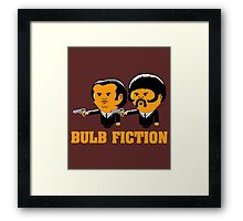 Bulb Fiction Framed Print