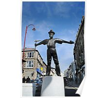 New Tin Miner Monument Redruth Cornwall Poster