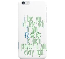 how to say i love you (destiel) iPhone Case/Skin
