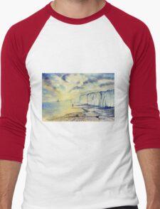 Twilight Stroll on the Beach Men's Baseball ¾ T-Shirt