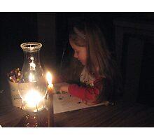 HANNAH & EARTH HOUR ...MARCH 28th 2009     #1 THROUGH 8  Photographic Print