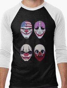 Payday 2 Masks Vector Men's Baseball ¾ T-Shirt