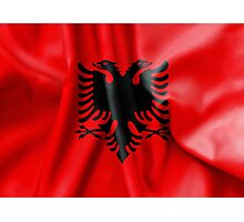 Albania Flag Photographic Print