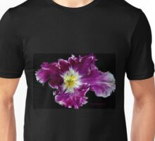 a Tulip with a Picasso touch.. Unisex T-Shirt