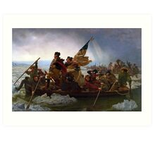 Washington Crossing the Delaware by Emanuel Leutze - Painting Art Print