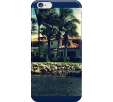 Palm Trees In The Wind, Oh Look There's A House Too iPhone Case/Skin