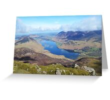 View of Crummock, Lake district, Cumbria, England Greeting Card