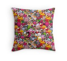 Kawaii galore Throw Pillow