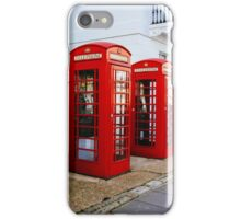 Red Telephone Booths London iPhone Case/Skin