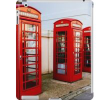 Red Telephone Booths London iPad Case/Skin