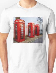 Red Telephone Booths London T-Shirt