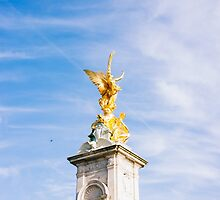 Queen Victoria Memorial Golden Statue by PatiDesigns