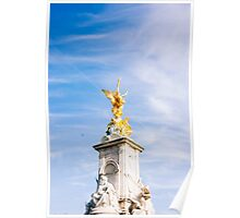 Queen Victoria Memorial Golden Statue Poster