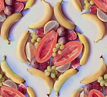 Fruit Salad - a tropical pattern by micklyn