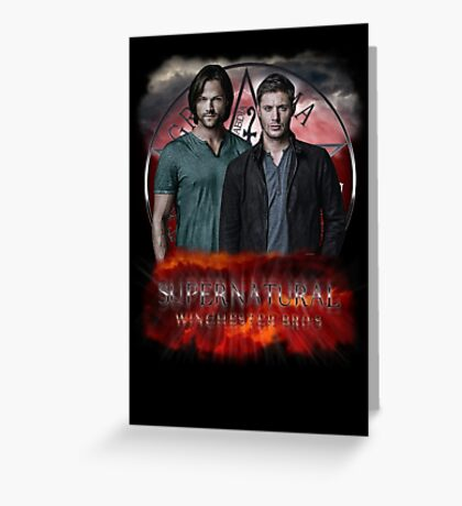 Supernatural Winchester Bros Greeting Card