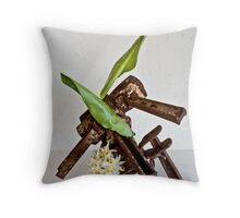 Ikebana-110 Throw Pillow