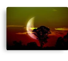 Coloured Moon Canvas Print