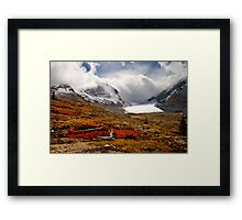 Athabasca Glacier and Mountains, Icefields Parkway NP, Alberta, Canada Framed Print