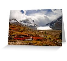 Athabasca Glacier and Mountains, Icefields Parkway NP, Alberta, Canada Greeting Card