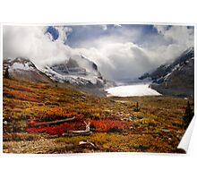 Athabasca Glacier and Mountains, Icefields Parkway NP, Alberta, Canada Poster