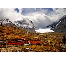 Athabasca Glacier and Mountains, Icefields Parkway NP, Alberta, Canada Photographic Print